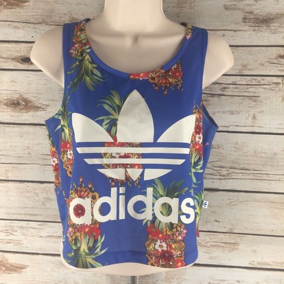 0dfbf29c06e Adidas Pineapple Crop Tank Top Size Small. M_5ad165d5a4c485d8c50985a7